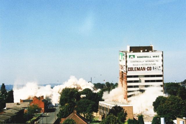 Triple explosive demolition Lyng Estate West Bromwich